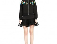 Zip Jacket with Abstract Cartoon Print Chicnova bester Fashion-Online-Shop aus China