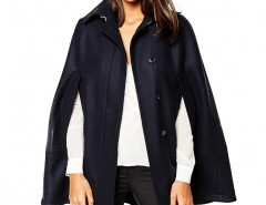 Lapel Cape Coat with Pocket Chicnova bester Fashion-Online-Shop aus China