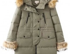 Solid Down Coat with Hood Chicnova bester Fashion-Online-Shop aus China