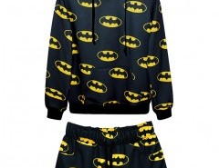 Cartoon Print Sweatshirt and Shorts Chicnova bester Fashion-Online-Shop aus China