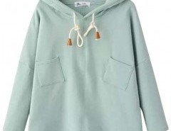 Hooded Sweatshirt with Patch Pockets Chicnova bester Fashion-Online-Shop aus China