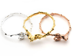 seahorse bangle. yellow gold. MrKate.com bester Fashion-Online-Shop aus den USA