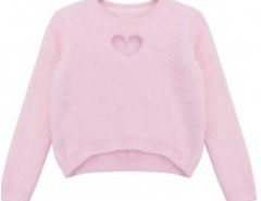 Asymmetric Sweater in Fluffy Knit Chicnova bester Fashion-Online-Shop aus China