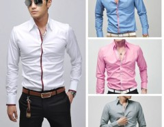 Men's Fashion Stylish Casual shirts Slim Fit Long Sleeve Shirt Tops Cndirect bester Fashion-Online-Shop aus China