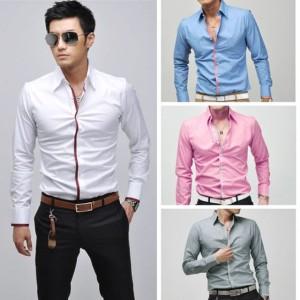 Men's Fashion Stylish Casual shirts Slim Fit Long Sleeve Shirt Tops Cndirect bester Fashion-Online-Shop aus China