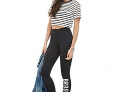 Stretch Leggings with Print Detail Chicnova bester Fashion-Online-Shop aus China