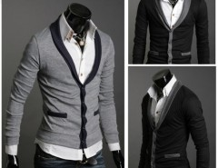 Men's Slim Design Stylish V-neck Cardigans Knitwear Sweaters Cndirect bester Fashion-Online-Shop aus China