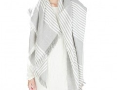 Fringe Cape with Stripes Chicnova bester Fashion-Online-Shop aus China