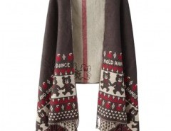 Jacquard Fringed Cape Chicnova bester Fashion-Online-Shop aus China
