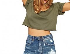 Plus Size Distressed Denim Shorts Chicnova bester Fashion-Online-Shop aus China