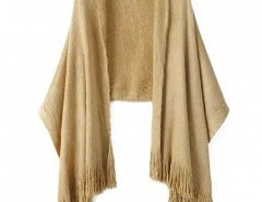 Mohair Fringing Cape Chicnova bester Fashion-Online-Shop aus China