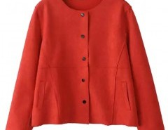 Round Neck Suede Coat Chicnova bester Fashion-Online-Shop aus China