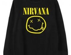 Sweatshirt with NIRVANA Print Chicnova bester Fashion-Online-Shop aus China