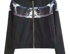Stand Collar Jacket with Front Print Chicnova bester Fashion-Online-Shop aus China