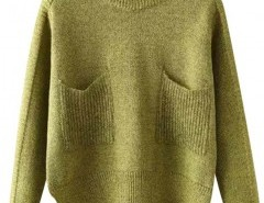 Preppy Style Round Neck Sweater with Stepped Hem Chicnova bester Fashion-Online-Shop aus China
