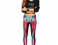 Leggings with All Over Skull Print Chicnova bester Fashion-Online-Shop aus China