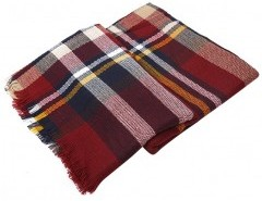 Plaid Cape with Tassels Chicnova bester Fashion-Online-Shop aus China