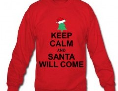 Holiday Sweatshirt with Keep Calm Print Chicnova bester Fashion-Online-Shop aus China