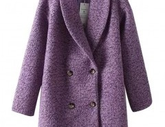 Long Sleeve Coat in Tweed Chicnova bester Fashion-Online-Shop aus China