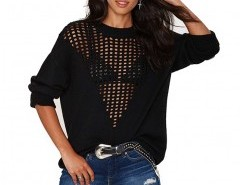 Sweater in Loose Mesh Knit Chicnova bester Fashion-Online-Shop aus China