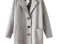 Long Sleeve Wool Coat Chicnova bester Fashion-Online-Shop aus China