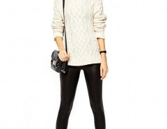 PU Leggings with Stretch Chicnova bester Fashion-Online-Shop aus China