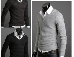 Mens Premium Stylish Slim Fit V-neck Sweater Jumper Tops Cardigan Cndirect bester Fashion-Online-Shop aus China