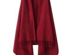 Solid Color Cape with Fringe Chicnova bester Fashion-Online-Shop aus China