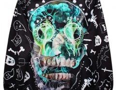 Sweatshirt with Skull Print Chicnova bester Fashion-Online-Shop aus China