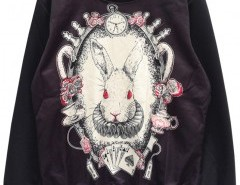 Sweatshirt with Rabbit Print Chicnova bester Fashion-Online-Shop aus China