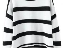 Preppy Style Crew Neck Stripe Sweatshirt Chicnova bester Fashion-Online-Shop aus China