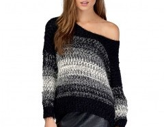 Fluffy Mohair Sweater in Stripe Chicnova bester Fashion-Online-Shop aus China