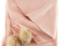 Fine Knit Square Scarf with Pom Chicnova bester Fashion-Online-Shop aus China