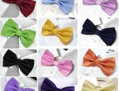 Men's Grid Polyester Neckwear Adjustable Wedding Bow Tie Cndirect bester Fashion-Online-Shop aus China