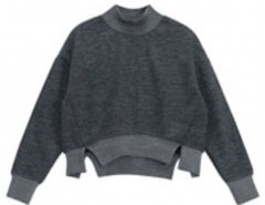 Long Sleeve Sweatshirt with Splits Chicnova bester Fashion-Online-Shop aus China