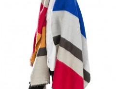 Multiple Color Block Cape with Stripe Chicnova bester Fashion-Online-Shop aus China