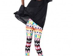 Leggings in All-over Geo Print Chicnova bester Fashion-Online-Shop aus China