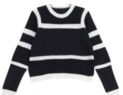 Contrast Color Sweater in Fine Knit Chicnova bester Fashion-Online-Shop aus China