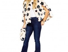 Star Printed Mini Faux Fur Cape Chicnova bester Fashion-Online-Shop aus China