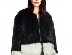 Color Block Fluffy Faux Fur Coat Chicnova bester Fashion-Online-Shop aus China