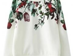 Round Neck Sweatshirt with Print Chicnova bester Fashion-Online-Shop aus China