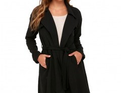 Lapel Coat with Long Sleeves Chicnova bester Fashion-Online-Shop aus China