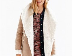 Solid Suede Shearling Coat Chicnova bester Fashion-Online-Shop aus China