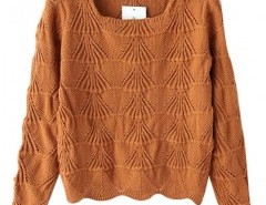 Preppy Style Patterned Knit Sweater Chicnova bester Fashion-Online-Shop aus China