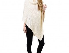 Roll Neck Cape Sweater Chicnova bester Fashion-Online-Shop aus China