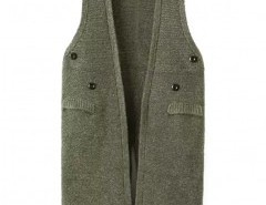 Solid Split Vest with Button Detail Chicnova bester Fashion-Online-Shop aus China