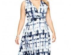 Plus Size V-neck Tie Belt Midi Dress Chicnova bester Fashion-Online-Shop aus China