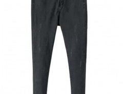 Preppy Style Mid-rise Skinny Jeans with Rips Chicnova bester Fashion-Online-Shop aus China