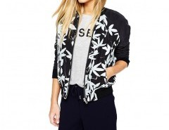 Cropped Jacket with Floral Print Chicnova bester Fashion-Online-Shop aus China
