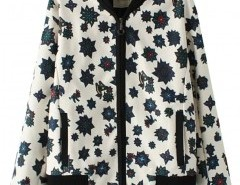 Stand Collar All-over Print Jacket Chicnova bester Fashion-Online-Shop aus China
